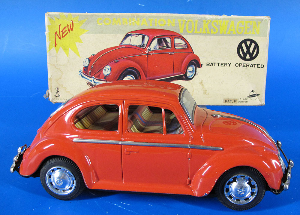 Detalles Acerca De Vtg Taiyo Anese Battery Operated Combination Volkswagen Car Toy Orig Box Yqz